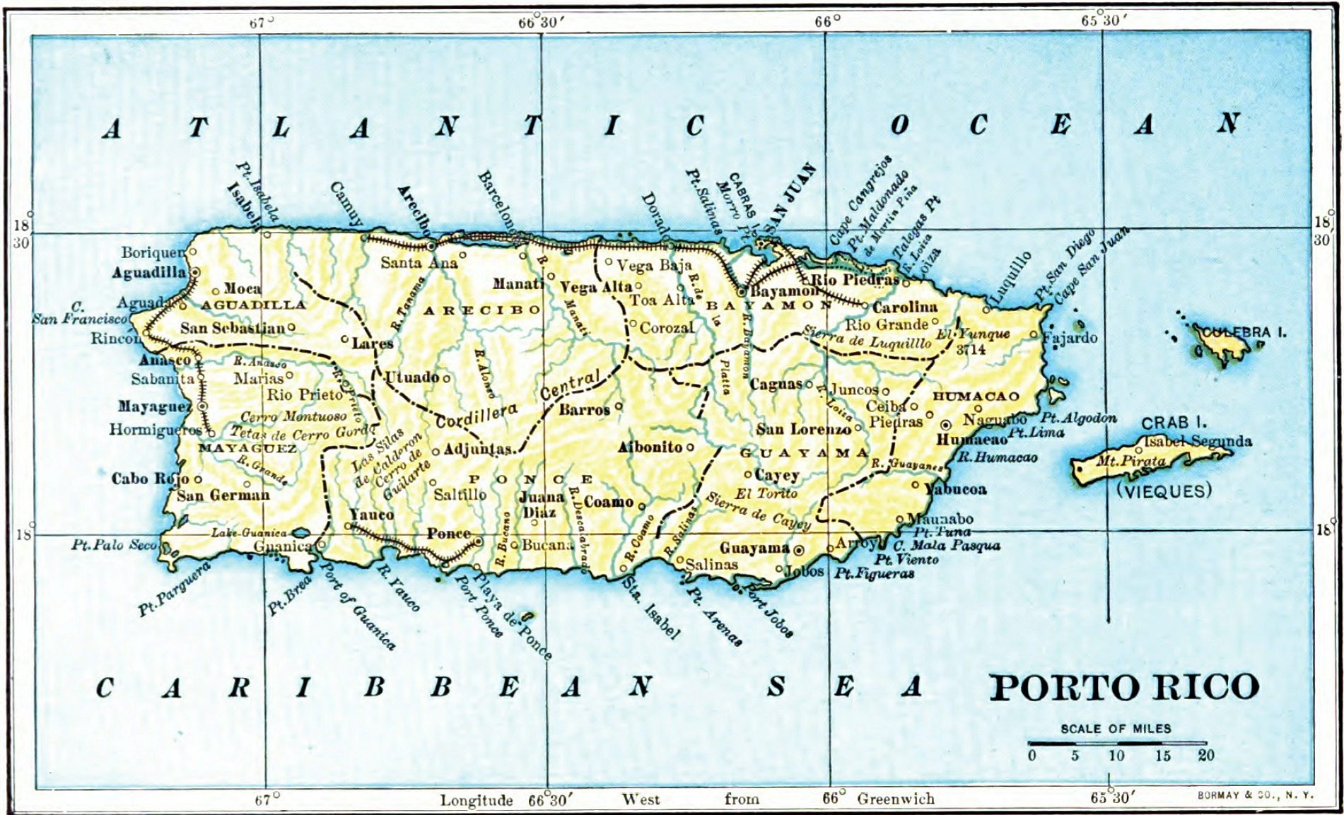 A Learn About Puerto Rico Maps